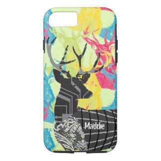 Monogram Vintage Deer Art Nouveau Forest iphone iPhone 8/7 Case