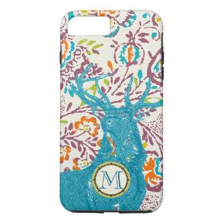 Monogram Vintage Deer Art Nouveau Forest iphone iPhone 8 Plus/7 Plus Case