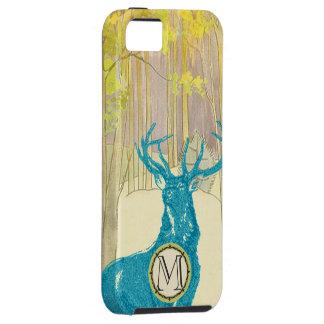 Monogram Vintage Deer Art Nouveau Forest iphone iPhone SE/5/5s Case