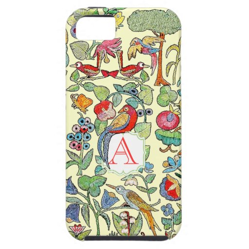 Monogram Vintage Faux Embroidered Pattern iphone iPhone 5 Case
