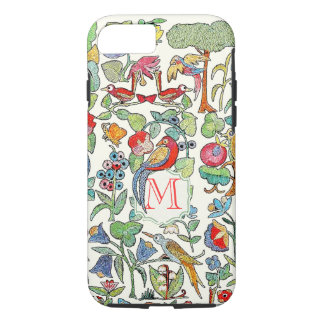 Monogram Vintage Faux Embroidered Pattern iphone iPhone 8/7 Case