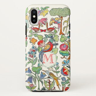 Monogram Vintage Faux Embroidered Pattern iphone iPhone X Case