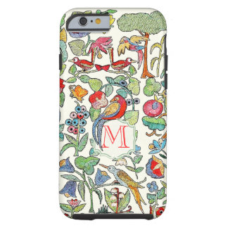 Monogram Vintage Faux Embroidered Pattern iphone Tough iPhone 6 Case