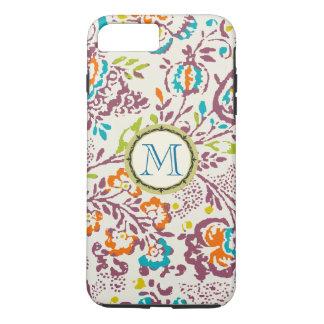 Monogram Vintage Floral Pattern iphone iPhone 8 Plus/7 Plus Case