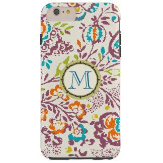 Monogram Vintage Floral Pattern iphone Tough iPhone 6 Plus Case