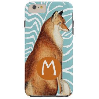 Monogram Vintage Fox Art Lime Wood Pattern iphone Tough iPhone 6 Plus Case
