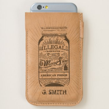 USA Themed Monogram. Vintage Handcrafted Moonshine. iPhone 6/6S Case