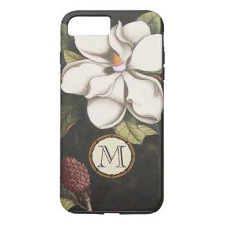 Monogram Vintage Magnolia Floral Pattern iphone iPhone 7 Plus Case