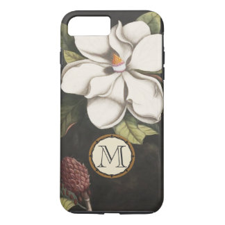 Monogram Vintage Magnolia Floral Pattern iphone iPhone 8 Plus/7 Plus Case