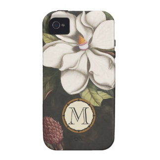Monogram Vintage Magnolia Flower Pattern iphone Vibe iPhone 4 Cases