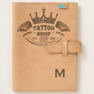 Monogram. Vintage Royalty Tattoo Shop. Journal