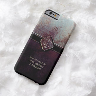 Monogram   Vintage Scales of Justice Barely There iPhone 6 Case