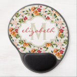 "Monogram Vintage Victorian Watercolor Floral Gel Mouse Pad<br><div class=""desc"">Girly Chic Floral Pattern with Monogram Name personalized design for you. You can customize this design with your monograms,  text,  name or photo. Enjoy it and Have fun!</div>"