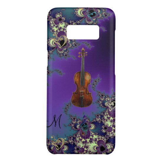 Monogram Violin Love Music Samsung Galaxy Case
