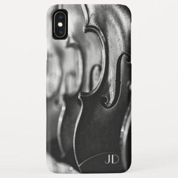 Monogram - Violins - iPhone XS Max Case