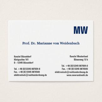 Monogram visiting cards