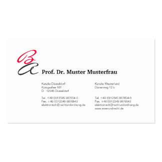 Monogram visiting cards business card templates