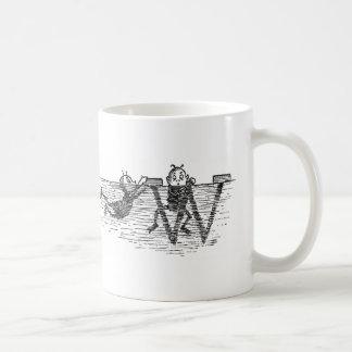 Monogram W and Brownies in Water Coffee Mug