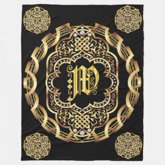Monogram W CUSTOMIZE To Change Background Color Fleece Blanket