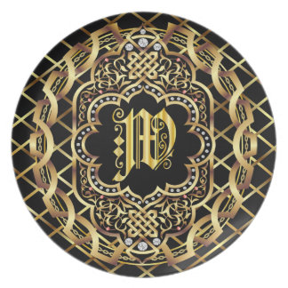 Monogram W IMPORTANT Read About Design Dinner Plate