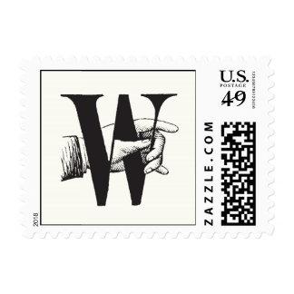 Monogram W postage