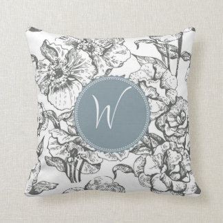 Monogram 'W' Throw Pillow