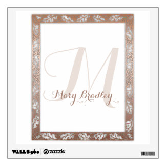 Monogram Wall Decal after William Morris