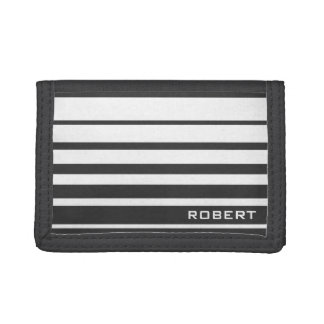 Monogram wallet for men   Custom sport stripes
