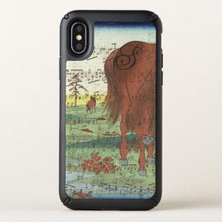 Monogram Watercolor Horse Vintage Painting Speck iPhone X Case