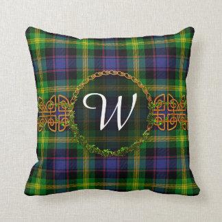 Monogram Watson Tartan Throw Pillow