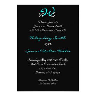 Monogram Wedding Black/ White Invitation