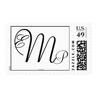 Monogram Wedding EMP Three Letters Postage Stamp