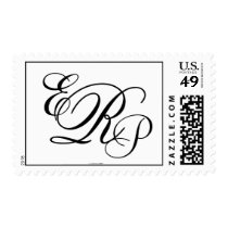 Monogram Wedding ERP Three Letters Postage Stamp