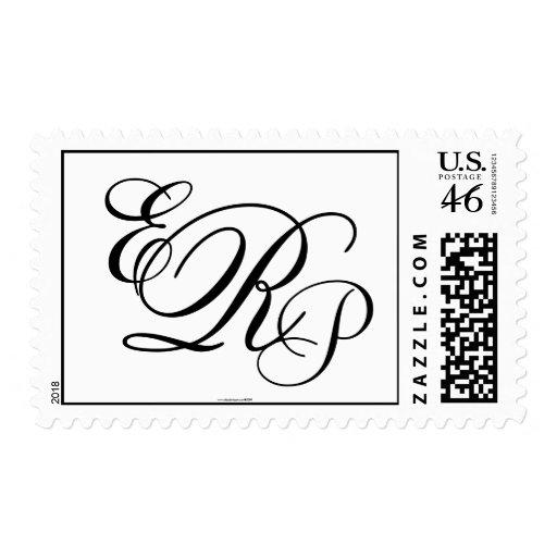 Monogram Wedding ERP Three Letters Postage Stamp