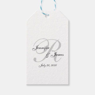 Monogram Wedding Favor Tags   Pack of Gift Tags