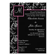Pink wedding invites by mgdezigns