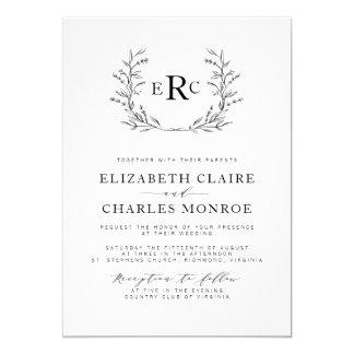 monogram wedding invitations Wedding Decor Ideas