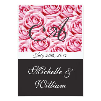 Monogram Wedding Invitation Letter A