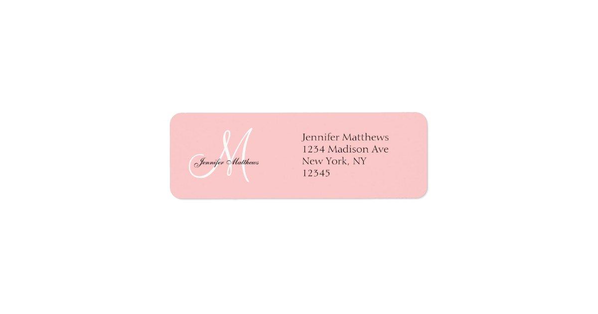 Return Labels For Wedding Invitations: Monogram Wedding Invitation Return Address Labels