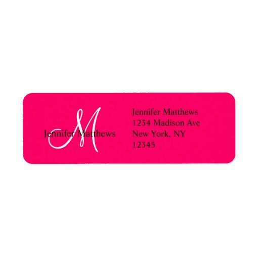 Monogram Wedding Invitation Return Address Labels Zazzle