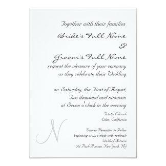 MONOGRAM WEDDING INVITATION TEMPLATE