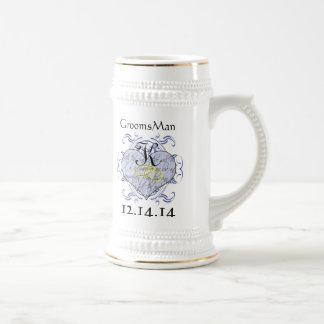 Monogram Wedding Invitations & Gifts 18 Oz Beer Stein