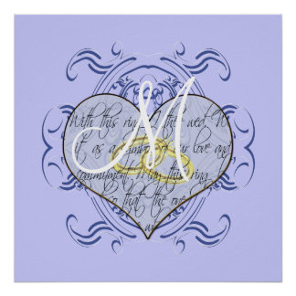 Monogram Wedding Invitations & Gifts Poster