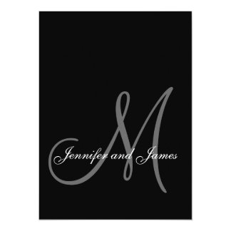 Monogram Wedding Invitations New Size