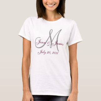 Monogram Wedding Party T-Shirt