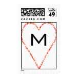 Monogram Wedding Postage
