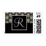 Monogram Wedding postage - letter R
