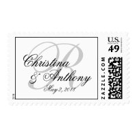 Monogram Wedding Postage Stamps|Custom