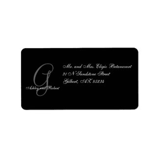 Monogram Wedding RSVP Address Labels