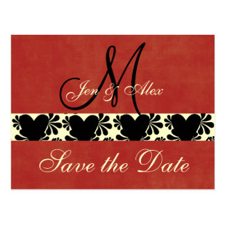 Monogram Wedding Save the Date Cards